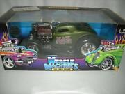 33 Ford Black Widow. In Green With Spider Web 118 Scale Die Cast Muschle Mach.
