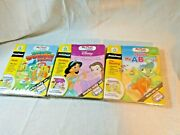 3 Leap Frog My First Leap Pad Book And Cartridge Lot Disney