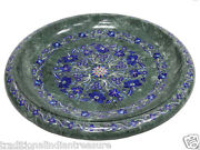 16 Green Marble Fruits Bowl Turquoise Lapis Lazuli Inlay Decor Veterans Gifts