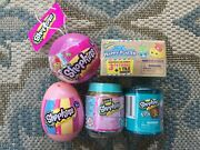 Lot Of 5 Shopkins Surprise Toys Ornament, Egg, Happy Places Box And 2 Jars