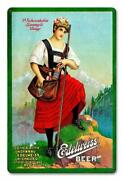 Edelweiss Beer Lager Brewery Ale Metal Sign Man Cave Garage Body Shop Ami046