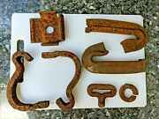 Vintage Railroad Anchors-track Braces And More Cast Iron Train Collectibles