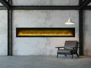 100 Clean Face Symmetry Electric Fireplace W/black Steel Surround