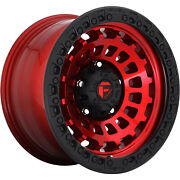 4 20x9 Fuel Zephyr D632 568 Lug New Candy Red Black Wheels Free Caps And Lugs