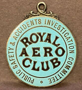 Royal Aero Club Public Safety And Accidents Investigation Committee Badge 1910s