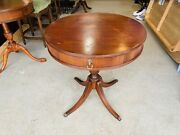 Beautiful Imperial Grand Rapids Mahogany Duncan Phyfe Style Drum Table L@@k