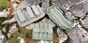 Paraclete And Ats Tactical Ranger Green Pouch Lot Triple M4, Quad Pistol 9/45 And Gp