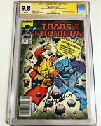 Cgc Ss 9.8 Transformers 43 Signed By Dick Gautier And Frank Welker Newsstand