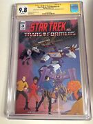 Cgc Ss 9.8 Star Trek Vs. Transformers 3 Signed By Shatner Welker And Nichols