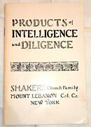 Antique Mt. Lebanon Shakers Catalogue Products Of Intelligence And Diligence