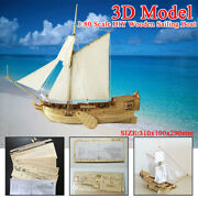 180 Scale Ship Assembly Model Diy Kits Wooden Sailing Boat Home Decora Toy Gift