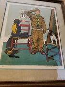 Canand039t Wait By Norman Rockwell - 41/200 Limited Edition Print Hand Signed