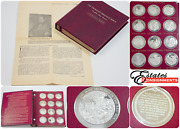 Franklin Mint Thomason Medallic Bible .925 Sterling Silver Coins 75 Ozt