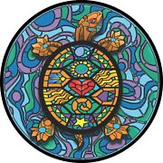 Turtle Stained Glass Spare Tire Cover All Sizes Available-back Up Camera Option