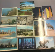 Vintage Postcard Lot 14 Chicago Ill Black Stone Hall Air View Beach Field Museum