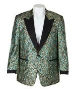 Bb King Owned And Stage Worn Custom Jacket Coat Julienand039s - Gold Lamandeacute Blue Green