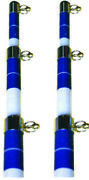 Seachoice 88201 Tele Outrigger Pole-15and039 Blue 3-section Poles Pair Trolling Lc