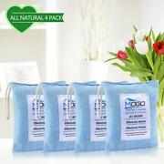 Bamboo Charcoal Air Freshener Bag 200g 4pk Absorbs Odors Allergens Pollutant