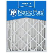 16x25x4 Air Filter Furnace Merv 12 11 Conditioner Pleated Bulk 6 Pack
