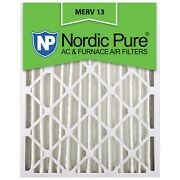 16x25x4 Air Filter Furnace Merv 13 12 Conditioner Pleated Bulk 6 Pack