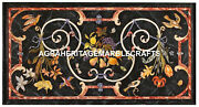 Marble Dining Outdoor Table Top Fruit Floral Birds Inlay Design Home Decor H2455