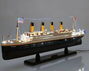 Rms Titanic With Lights 32 Display Ship Model Cruise Wood Collectible Decor New