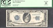 1 1934-a=silver Certificate=blue Seal=error=inverted Back=pcgs Vf 25