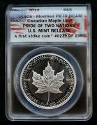 2019 Anacs Modified Pr70 Dcam Canadian Maple Leaf | Pride Of Two Nations 5 75