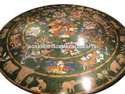 Green Marble Dining Room Table Top Mosaic Inlay Work Home Garden Art Decor H3031