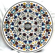 Marble Coffee Table Italian Multi Floral Marquetry Inlaid Wedding Decor H3914