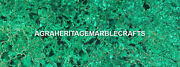 Fine Marble Dining Top Table Malachite Light Stone Art Inlay Outdoor Decor H5614