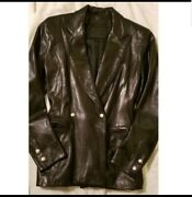 Authentic Claude Montana Leather Blazer. Very Rare And From Designer Himself