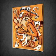 Jazz Music Abstract Canvas Wall Art Pictures Print Variety Of Sizes Free Uk Pandp