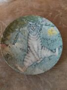 Sniffer By Zoe Stokes American Artists Cat Collector Plate 1982