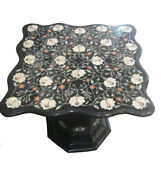 Marble Dining Table Top With Stand Inlay Stone Marquetry Home Outdoor Decor H906