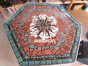 White Marble Breakfast Table Top Mosaic Marquetry Stones Inlay Garden Deco H3790