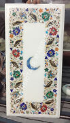 18x24 Buy Marble Top Coffee White Table Online Moon Floral Multi Inlaid E768