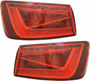 Fits Audi S3 A3 2015-2016 Left Right Outer Taillights Tail Lights Rear Lamp Pair