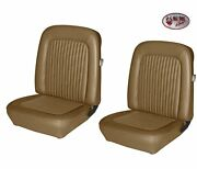 Front Bucket Seat Upholstery 1968 Mustang Coupe Nugget Gold - Made By Tmi In Usa