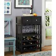 Bottle Wine Tower With Draws Holds 20 Bottles 12 Wine Glasses Red Color New