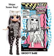 1 Authentic Lol Surprise Groovy Babe Omg Fashion Doll Lights Neon Black In Hand