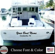 Custom Boat Name And Port Stickers 6x36 Transom Boat Lettering Decal Stickers