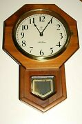 Vintage Seth Thomas Electronic Strike Wall Clock For Parts Or Repair