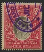 East Africa And Uganda, Used, 29, Purple Cancel, Clean And Crisp, Great Centering