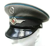 Ddr East German Air Force / Luftstreitkrafte Peaked Cap And Badge