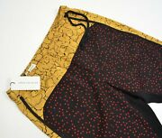 Dries Van Noten Summer Pome Pants Trousers Stars Floral 36fr 4 Us Xs S Red Black