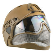 Warq Full Face Airsoft Safety Helmet Tan