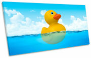 Bathroom Rubber Duck Print Panoramic Canvas Wall Art Picture