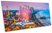 Myrtle Beach South Carolina Print Panoramic Canvas Wall Art Picture