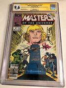 Cgc Ss 9.6 Masters Of The Universe 13 Signed Lundgren +5 Motu Movie Cast He-man